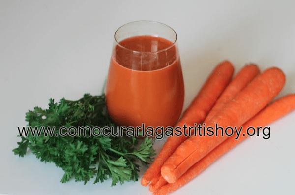 Beneficios del Jugo de Zanahoria para la Gastritis